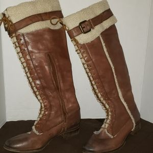 Arturo Chiang brown leather boots size 8.5